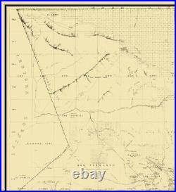 Los Angeles County California Wildy 1877 23 x 25.19