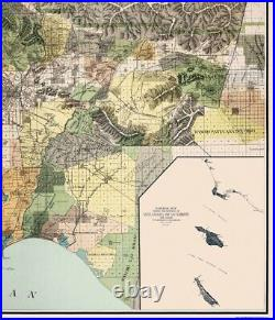 Los Angeles County California Wright 1898 23 x 26.81