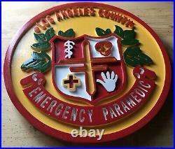 Los Angeles County Emergency Paramedic 3D routed wood patch sign Custom