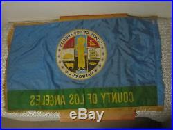 Los Angeles County Flag Hortie Van city usa american banner old california vtg