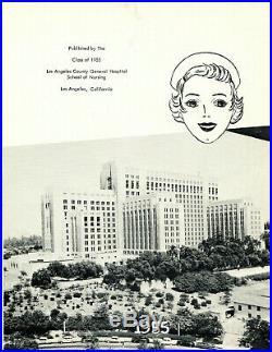 Los Angeles County General Hospital School of Nursing Yearbook Set of 3 1953-55