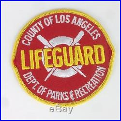 Los Angeles County Lifeguard Patch Advertising California Dept Parks Recreation