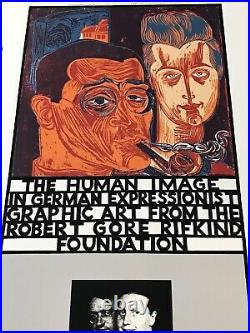 Los Angeles County Museum Art Exhibition Poster Rifkind The Human Image 1981