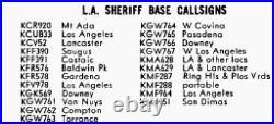 Los Angeles County Sheriff KMA-628 Vintage California LASD License Plate Frame