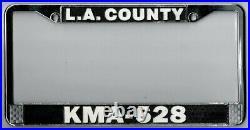Los Angeles County Sheriff KMA-628 vintage LASD California license plate frame