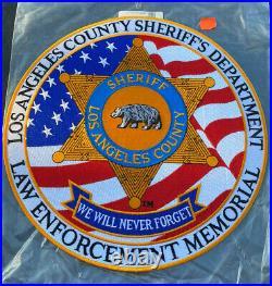 Los Angeles County Sheriffs Department Law Enforcement Memorial Patch 12