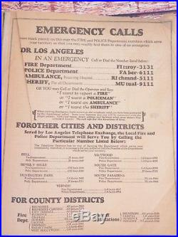 Los Angeles & County of Los Angeles Telephone Directory May 1931