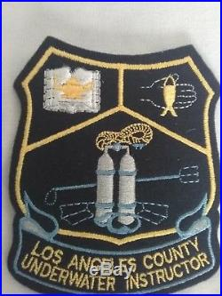 Los Angeles County underwater instructors patches Scuba