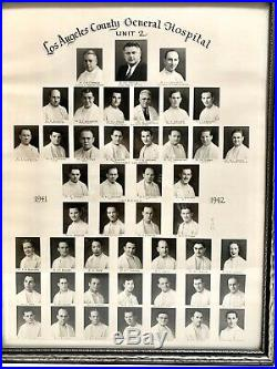 Los Angeles Hospital Doctors Photograph 1940S 16X20 Historic LA County