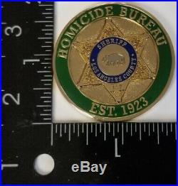 Los Angeles La County Sheriff Homicide Bureau Ca Coin