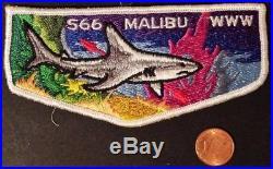 Malibu Lodge 566 Oa Western Los Angeles County Council Patch Light Shark Flap