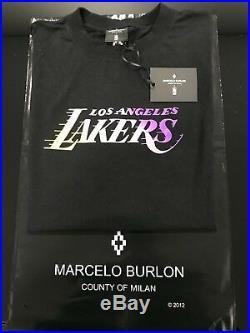 NEW Marcelo Burlon County of Milan Mens NBA Los Angeles Lakers T-shirt, Size M