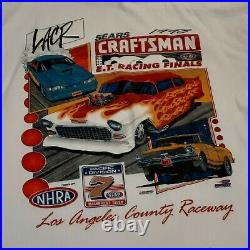 NHRA Los Angeles county raceway 1998 LACR Sears Craftsman white XL X Large