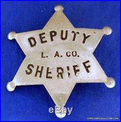 Obsolete, Vintage Los Angeles County Deputy Sheriff Badge