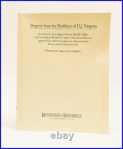 O. J. Simpson 1999 Los Angeles County Auction Program