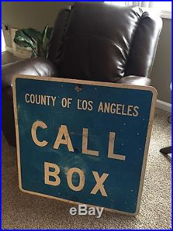Old County Of Los Angeles Call Box Steel Sign 30'x30