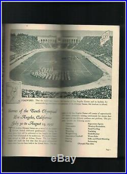 Olympic Games 1932 Los Angeles County California Brochure Summer Art Deco