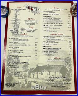 Original Vintage Dinner Menu BOB BURNS RESTAURANTS Los Angeles Orange County CA