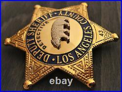 Ov/ Collector badge, Detective Deputy Sheriff, Los Angel County, Kalifornien