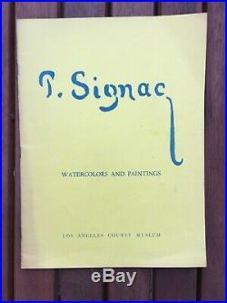 Paul Signac watercolors and paintings Los Angeles County Museum 1954