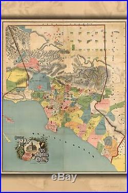 Poster, Molte Misure Ufficiale Mappa Los Angeles County