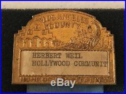 Pre-War CYD 1939 Los Angeles County Young Democrats Convention Pin & Ribbon