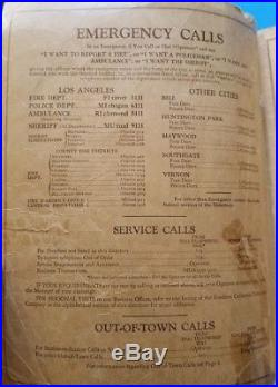 -RARE- 1936 LOS ANGELES City LA County Telephone Directory California Phone Book