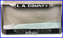 RARE KMA 628 License plate frame LOS ANGELES COUNTY SHERIFF'S DEPARTMENT SHERIFF