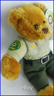 RARE Los Angeles County Sheriff Beanie Baby Plush Teddy Bear Uniform 9 NEW