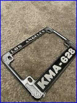 RARE Los Angeles County Sheriffs Department Motorcycle Plate Frame KMA 628
