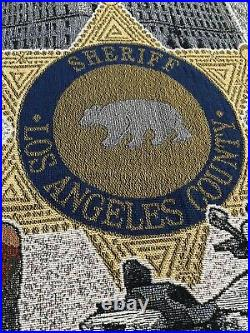 RARE! Los angeles county sheriff blanket throw Hard To Find! 57x50 Free Ship