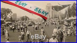 RARE POMONA CA LOS ANGELES COUNTY FAIR, RIDES, TONS PEOPLE Rppc Postcard