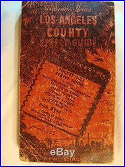 RARE Thomas Bros. LOS ANGELES COUNTY STREET GUIDE 1954