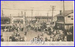 RPPC Pacific Fleet San Pedro Cal. Los Angeles County Great White Fleet Postcard