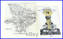 Rare 1909 Los Angeles California Booklet + Map City & County Chamber Of Commerce