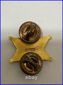 Rare 1950's Los Angeles County Sheriff Expert Shooting Pin Gold Filled