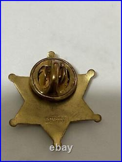 Rare 1950's Los Angeles County Sheriff Expert Shooting Pin Gold Filled 1 Pin