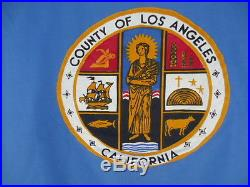 Rare Vintage Los Angeles County Flag California State Cotton Linen