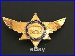 Rare Vintage Los Angeles County Sheriff Auxiliary Cap Piece LASD