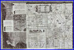 Sightseeing Map Los Angeles City And County For Service Men And Women 1945 WWII