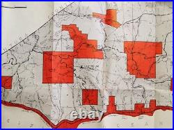 Special Map Rare Vtg Firearms Closure Area Map Los Angeles County 1958 Map