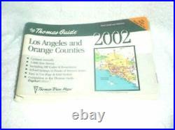 THOMAS GUIDE 2002 LOS ANGELES AND ORANGE COUNTIES STREET By Thomas Brothers VG+