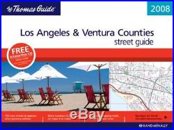 THOMAS GUIDE 2008 LOS ANGELES & VENTURA COUNTY, CALIFORNIA By Rand Mcnally NEW