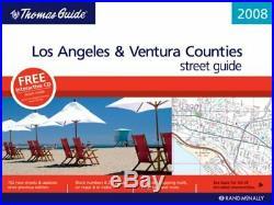 THOMAS GUIDE 2008 LOS ANGELES & VENTURA COUNTY, CALIFORNIA By Rand Mcnally VG+