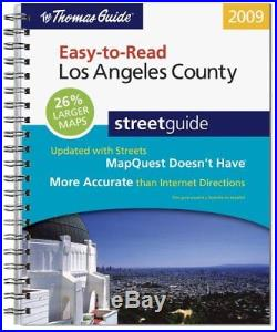 THOMAS GUIDE EASY-TO-READ LOS ANGELES COUNTY STREETGUIDE Excellent Condition