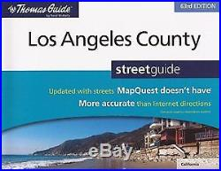 THOMAS GUIDE LOS ANGELES COUNTY, 63RD EDITION By Rand Mcnally Mint Condition