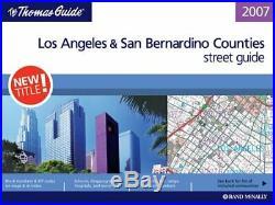 THOMAS GUIDE LOS ANGELES & SAN BERNARDINO COUNTIES STREET GUIDE By Rand VG