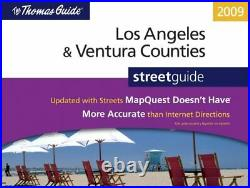 THOMAS GUIDE LOS ANGELES & VENTURA COUNTIES STREETGUIDE By Rand Mcnally VG+
