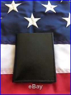 Tex Shoemaker Fire LAFD Los Angeles County Walking Bear Badge Wallet Leather ID