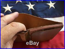 Tex Shoemaker LAFD Los Angeles County Fire Walking Bear Badge Wallet Brown